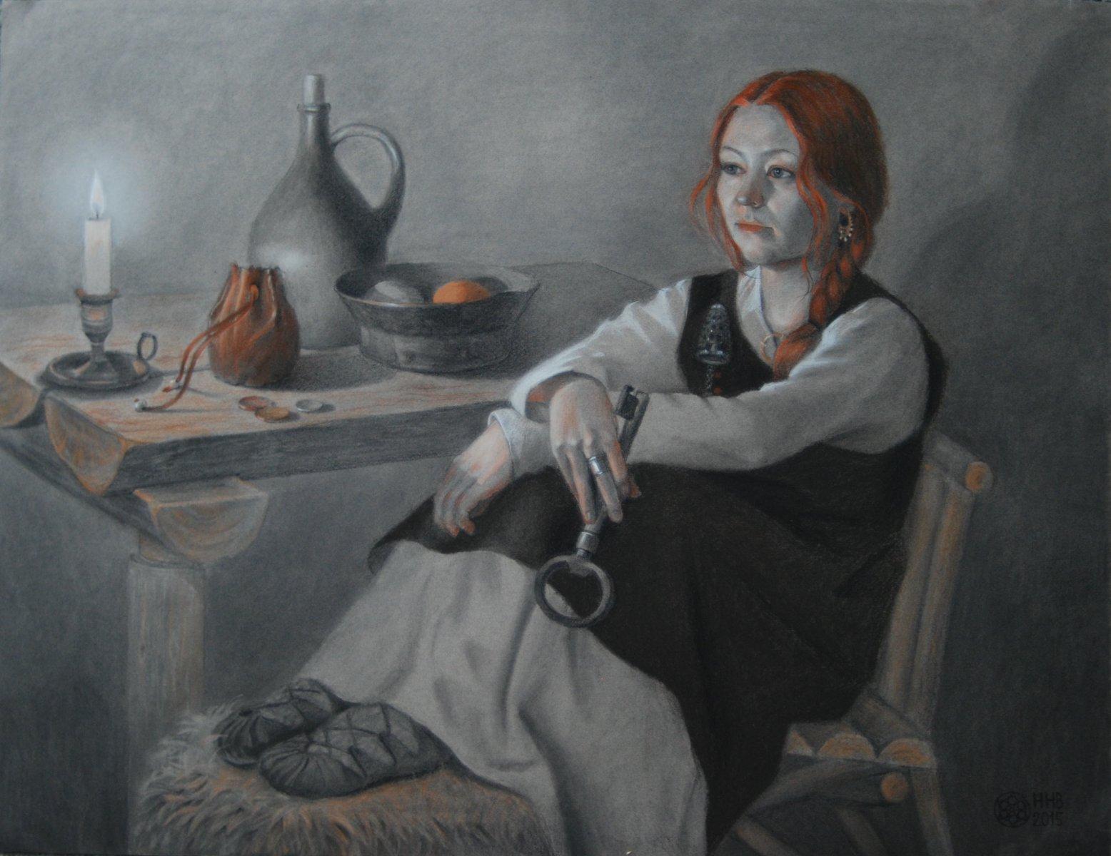 Хельга. пастель/уголь/бумага.50х65.2015