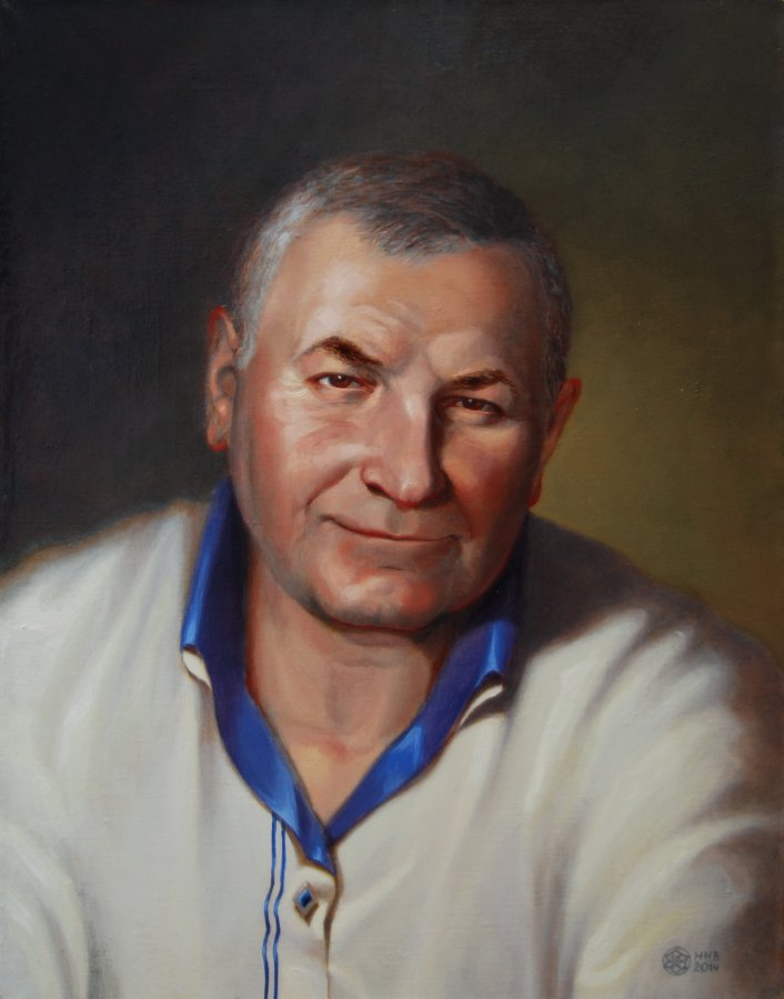 Портрет А.Г. х/м. 45х35. 2014