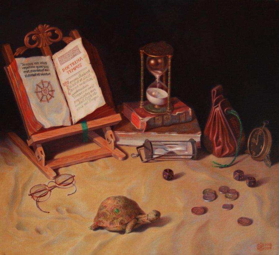 Doctrina Tempus (Учение о времени).х/м.2014