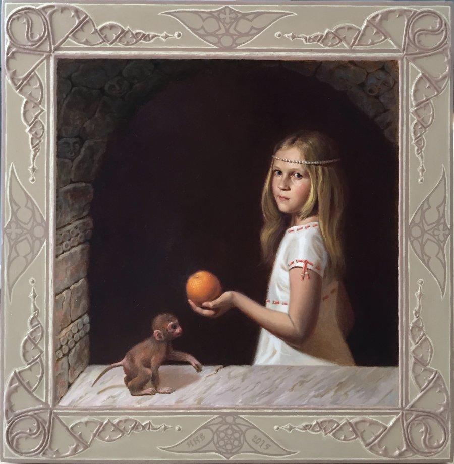Апельсин.дерево.левкас.масло.золото.32х33.
