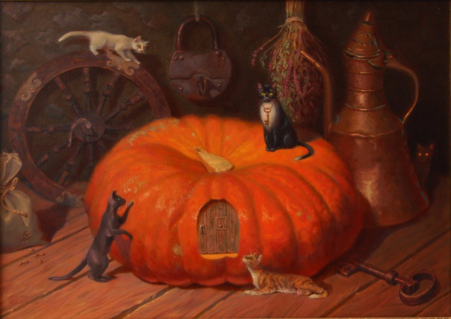The mistery of the old pumpkin. oil/cаnvas. 50х70.2013