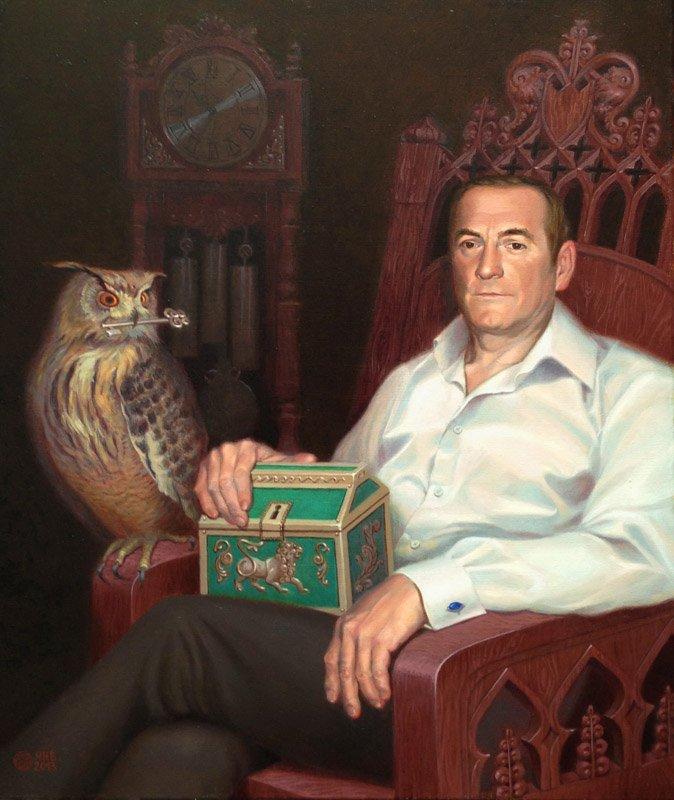 Portrait of the father. oil/cаnvas. 55х65.2013