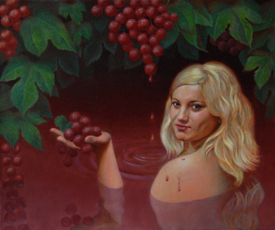 The wine bather. oil/cаnvas. 50х60.2012