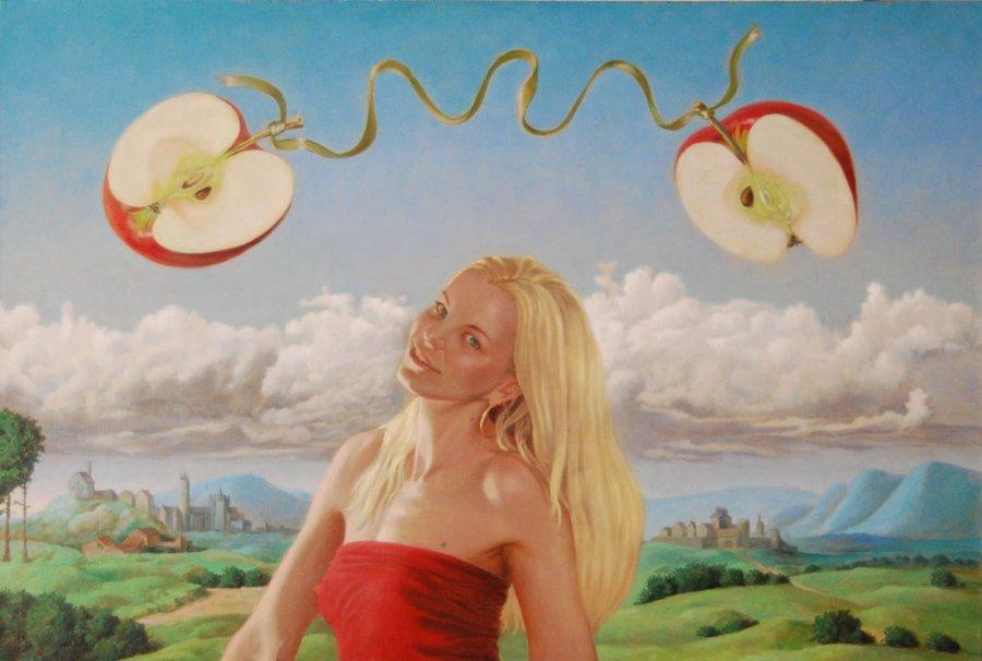 The apple. oil/cаnvas. 60х80.2011