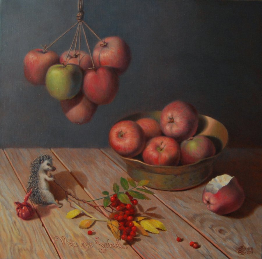 The Apple fairy tale. oil/canvas.50x50.2014. FOR SALE