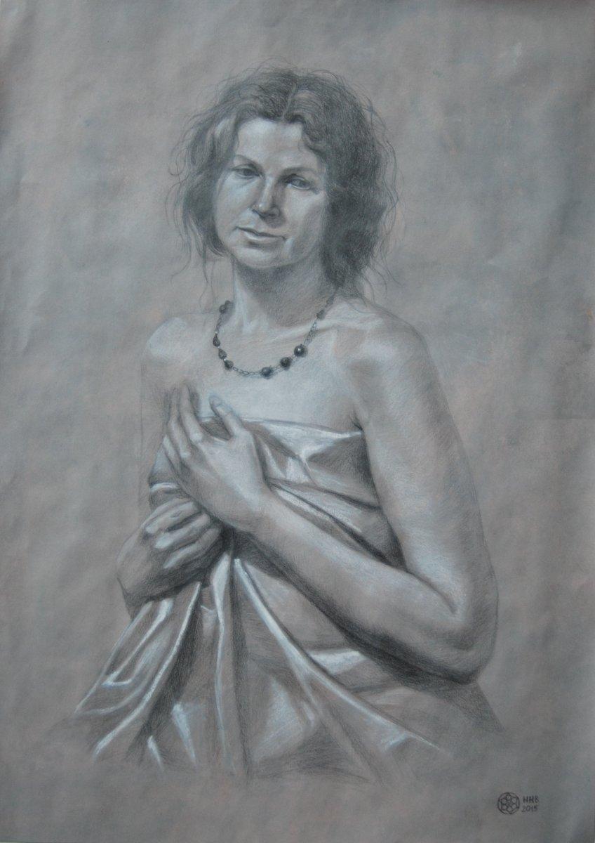 Портрет.46х65. пастель/карандаш/бумага.2015.ПРОДАЕТСЯ