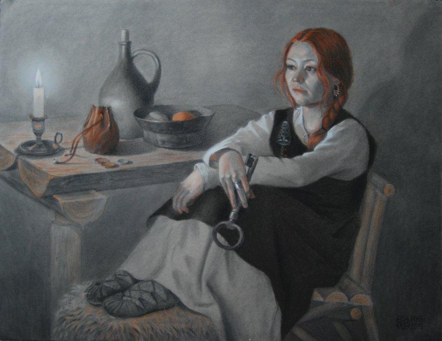 Helga.50x65.pastel/charcoal/paper.2015