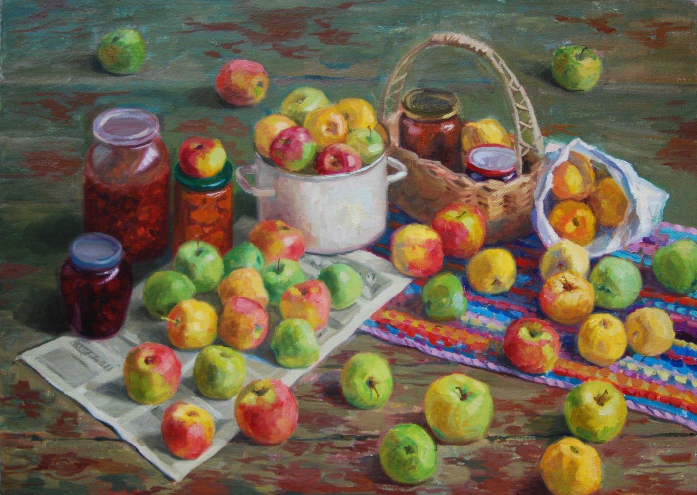 Яблоки.х/м.50х70.2015.продана