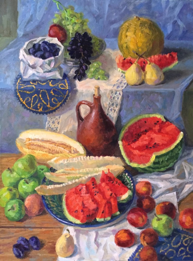 The fruits' wealth. 80x60.oil/canvas.2015