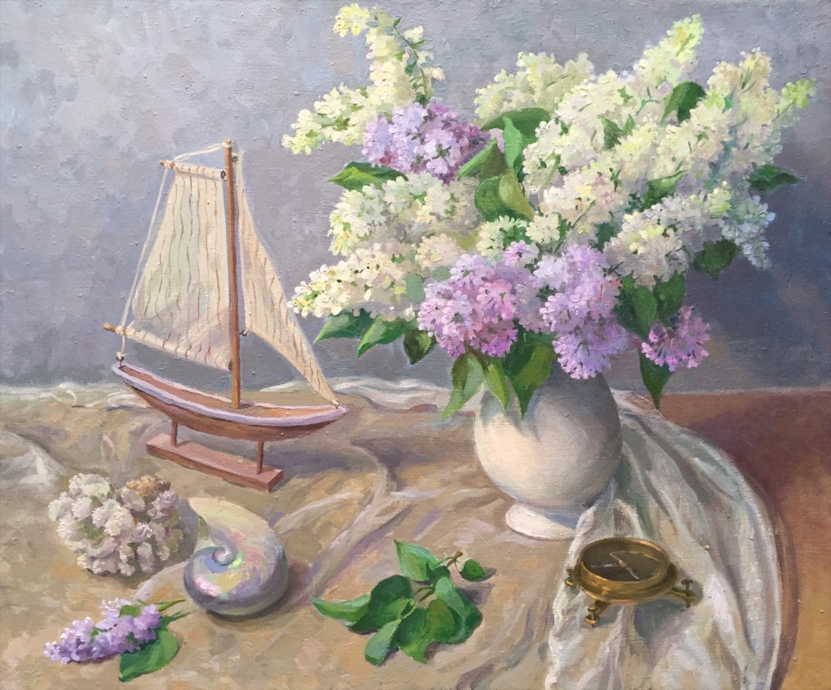 Lilac dreams.45x55.oil/canvas.2016.sold