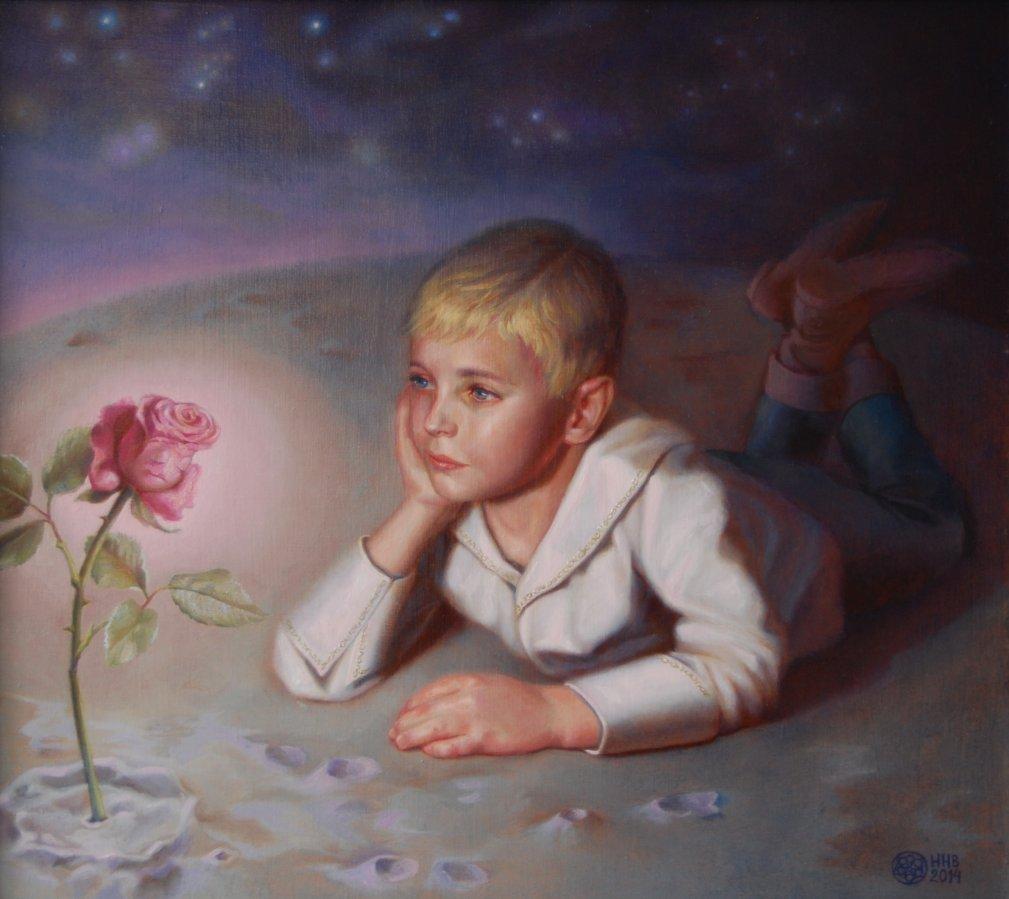 Маленький принц.х/м.40х45.2014.ПРОДАЕТСЯ